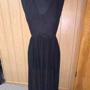 Semi sheer Black Dress
